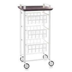 DELICA Küchenwagen - 3 Körbe und 1 Tablett