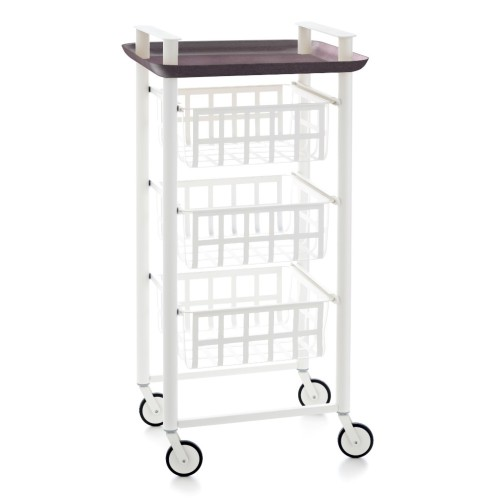 DELICA Kitchen trolley - 3 baskets and 1 tray