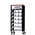 Wine rack trolley BACUS 18 bottles capacity