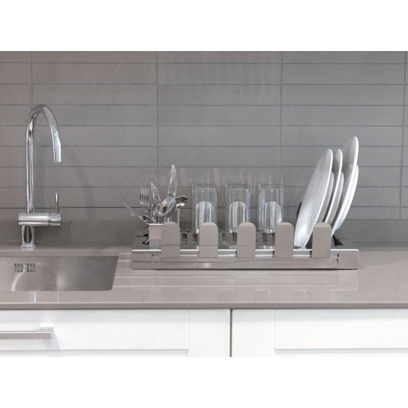 Escurreplatos en acero inoxidable aqua - Escurreplatos para muebles de cocina ...
