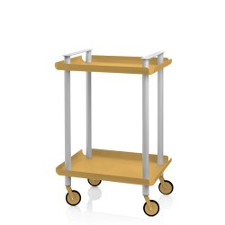 Leky Trolley with 2 shelves and grey frame