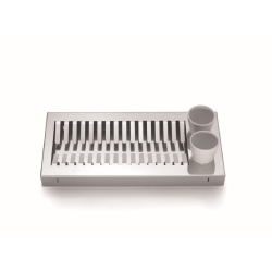 AQUA dish rack in stainless steel