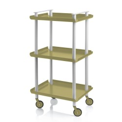 Leky Trolley with 3 shelves and grey frame