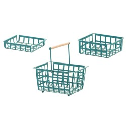 ZESTA, set of 3 baskets: small, medium and semi large size