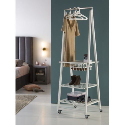Metal clothes rack with wheels, URBAN