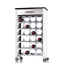Wine rack trolley BACUS, capacity of 24 bottles