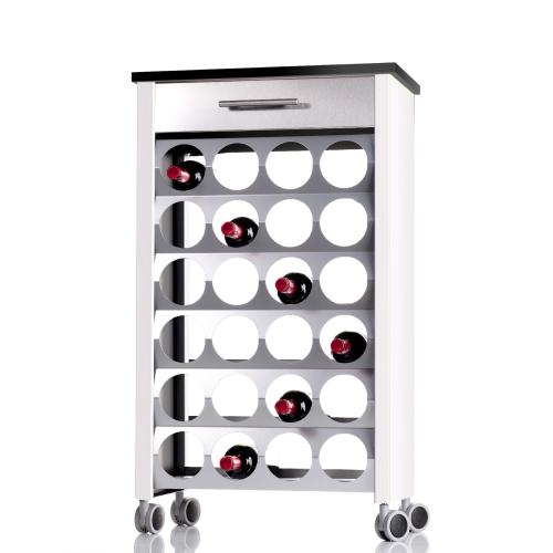 Wine rack trolley BACUS, capacity of 24 bottles