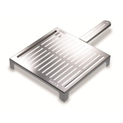 Stainless steel Grill for firewood or charcoal embers: fish and vegetables ABRÁSAME