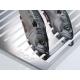 Grille 100% inox de grande dimension, pour poissons/légumes