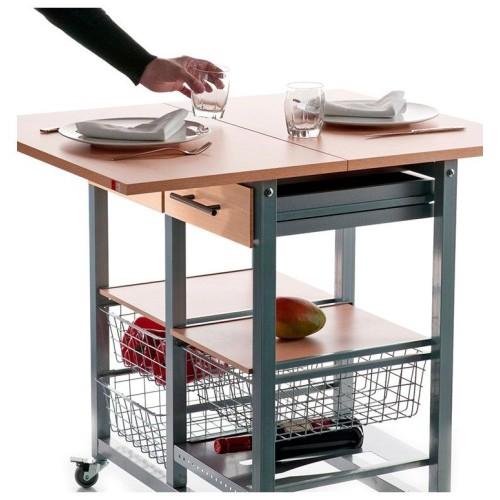 MILENIUM, Rack à légumes convertible en table d'a