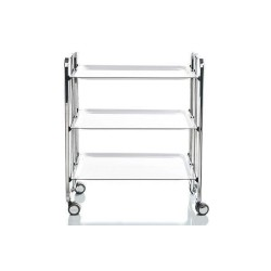 Rolling and foldable tea trolley, 3 levels
