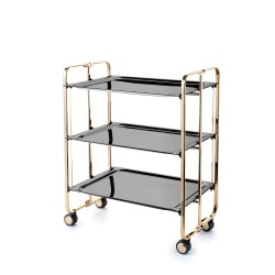 Rolling and foldable tea trolley BAUHAUS, 3 levels