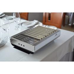 TRENDY, barbecue da tavolo, al 100% in acciaio inox.