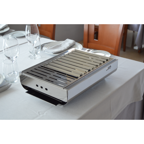Minimalist & movable BBQ, TRENDY. 100% Stainless steel.
