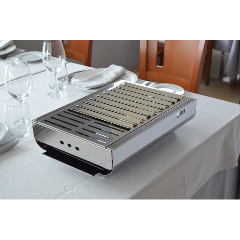 Trendy barbecue da tavolo al 100 in acciaio inox - Barbecue a gas da tavolo ...