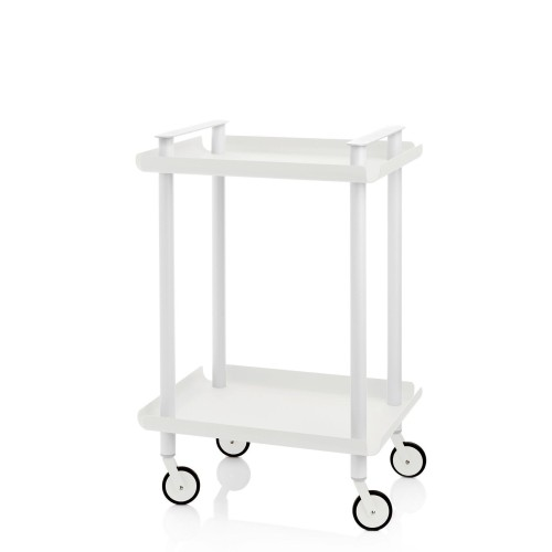 Leky Trolley with 2 shelves and white frame
