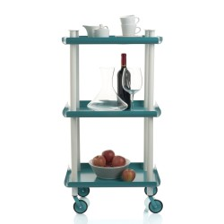Leky Trolley with 3 shelves and white frame