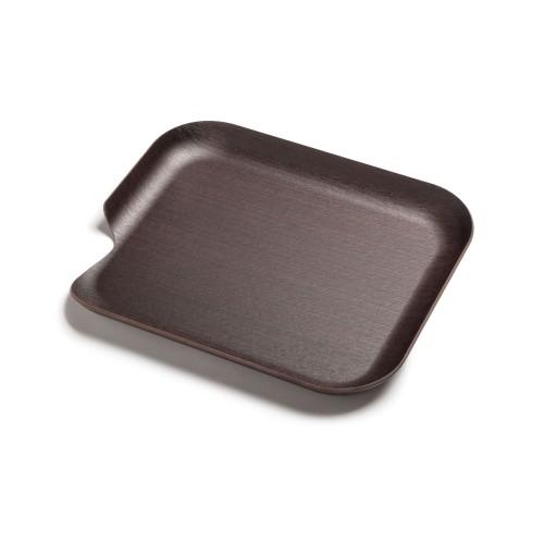 Delica Tablett aus Naturholz, 35 x 30 cm, links