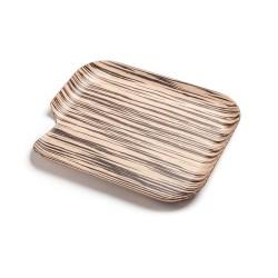 Delica, plateau en bois naturel, 35 x 30 cm., gaucher