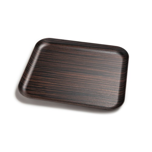Delica - Bandeja de madera natural mediana, entera