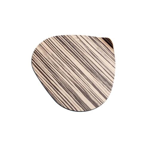Ameba set 2 sotto piatti in legno naturale.