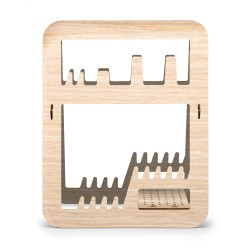 Aurea, dish drainer made in natural wood