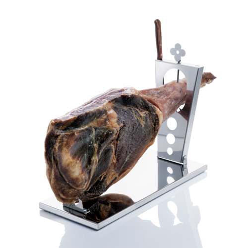Folding ham holder in stainless steel