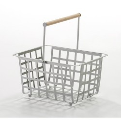 ZESTA - Semi large multifunctional basket, with wooden beech handle