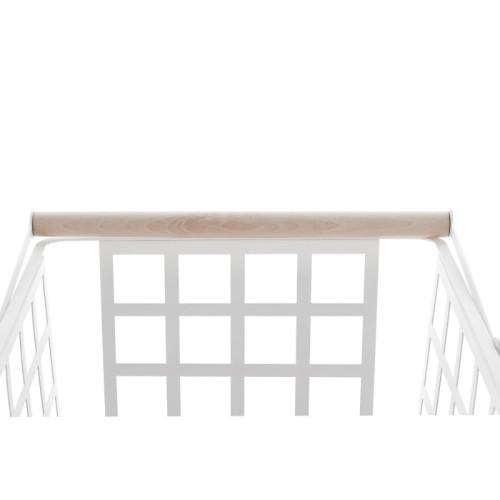 ZESTAS - basket with wheels and wooden beech handle