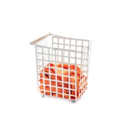 ZESTAS - basket with wheels and wooden beech handle