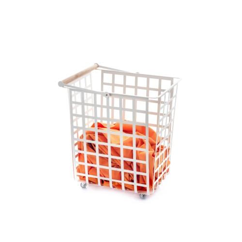 ZESTAS - Korb mit Rädern und Holzgriff aus Buche