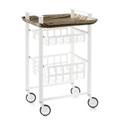 DELICA Kitchen trolley - 2 baskets and 1 tray