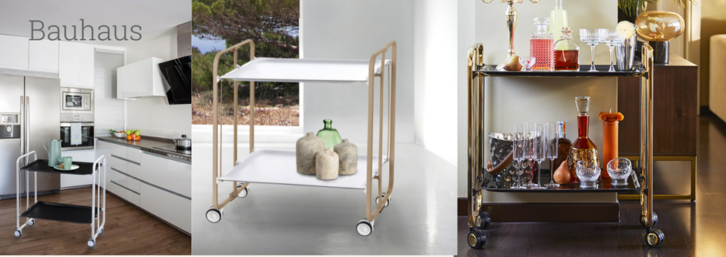 The BAUHAUS serving trolley is the perfect auxiliary furniture for the home.